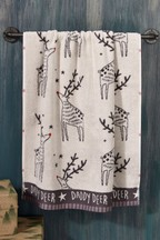 Matching Family Daddy Deer Towel
