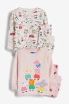 2 Pack Peppa Pig™ Snuggle Pyjamas (9mths-6yrs)
