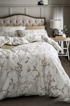 Brushed Cotton Leaf Trail Duvet Cover and Pillowcase Set