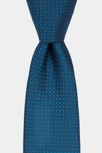 Moss London Teal Textured Tie