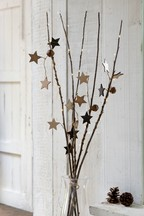 Lit Wooden Star Twigs