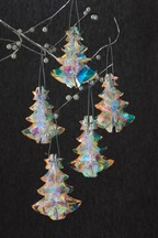 Set of 5 Iridescent Hanging Trees