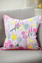 Botanical Neon Floral Cushion