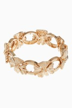 Vintage Flower Link Stretch Bracelet