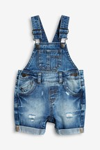 Denim Short Leg Dungarees (3mths-7yrs)