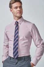 Regular Fit Single Cuff Stripe Shirt and Tie Pack