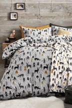 Brushed Nature's Christmas Duvet Cover And Pillowcase Set