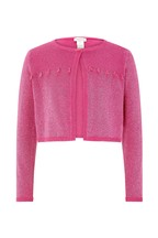 Monsoon Pink Tilly Tassel Bolero Cardigan