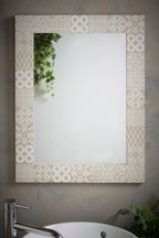 Tile Print Wall Mirror