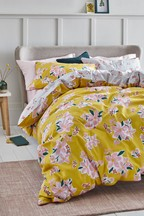 Sketched Floral Duvet Cover and Pillowcase Set