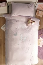 Butterfly Sequin Duvet Cover and Pillowcase Set