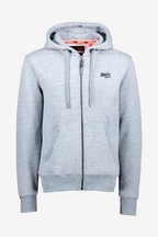 Superdry Pale Blue Zip Through Hoody