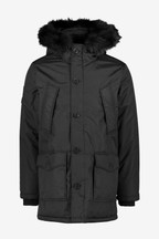 Superdry Black Everest Parka Coat