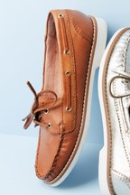 Forever Comfort® Leather Boat Shoes