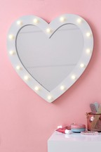 Light Up Heart Wall Mirror