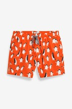 Penguin Print Swim Shorts
