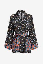 Mix/Caroline Issa Mix Print Floral Kimono