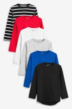 Long Sleeve T-Shirts Six Pack (3-16yrs)