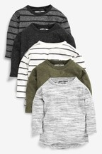 5 Pack Long Sleeve T-Shirts (3mths-7yrs)