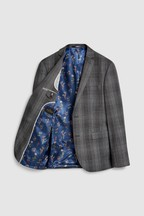 Tailored Fit Marzotto Signature Check Suit: Jacket