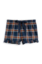 Cotton Blend Flannel Shorts