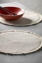 Set of 2 Fringed Placemats
