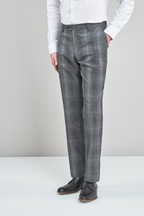 Tailored Fit Marzotto Signature Check Suit: Trousers