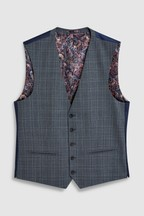 Wool Blend Check Suit: Waistcoat
