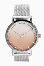 Ombre Dial Mesh Watch