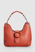 Resin Buckle Hobo Bag