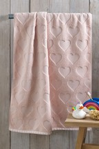 Childrens Pink Heart Towels