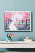Artist Collection Cherry Blossom by Janet Bell Framed Canvas