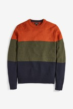 Colourblock Crew Neck Jumper