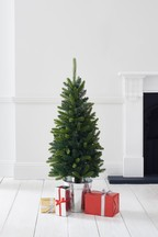 50 LED Porch Christmas Tree In Galvanised Pot