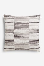 Chenille Block Stripe Cushion
