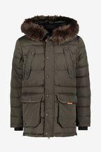 Superdry Khaki Parka Coat