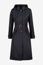 Lauren Ralph Lauren® Navy Maxi Hooded Trench Coat
