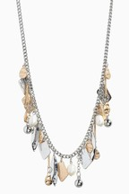 Mixed Metal Shapes Short Necklace