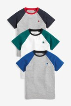 Badge Raglan T-Shirts Three Pack (3-16yrs)