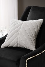 Quilted Chevron Velvet Cushion