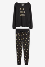 Womens Matching Family Slogan Pyjamas