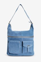 Suede Hobo Shoulder Bag