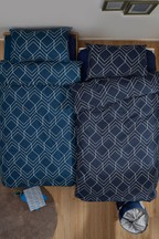 2 Pack Geometric Lines Duvet Cover and Pillowcase Set