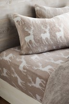 Fleece Stag Fitted Sheet