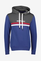 Replay® Blue Colourblock Overhead Hoody