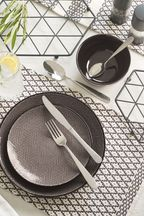 16 Piece Hammered Cutlery Set