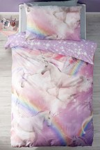 Digital Printed Unicorn Duvet Cover And Pillowcase Set