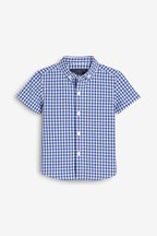 Gingham Poplin Short Sleeve Shirt (3mths-7yrs)