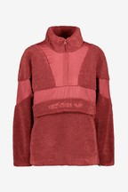 adidas Originals Burnt Red Sherpa 1/4 Zip Top