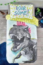 Crayon Dino Duvet Cover and Pillowcase Set